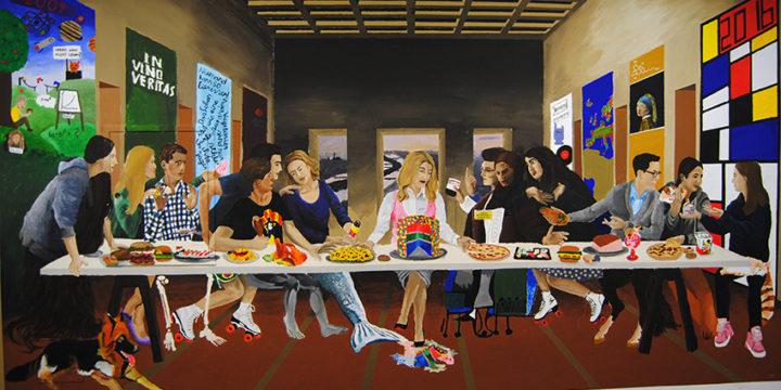 """Wandmalerei """"Letztes Abendmahl 2.0"""" 8A"""