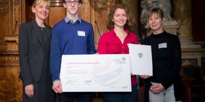 """1. Preis für das Projekt """"ALRAUNE – Allergien auf der Spur"""""""