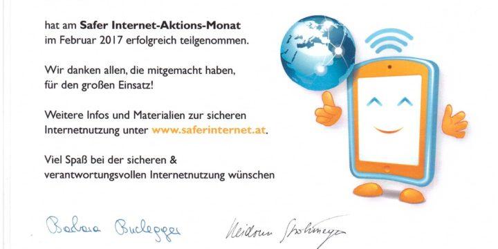 """""""Safer Internet""""-Aktionsmonat"""