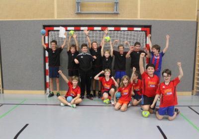 2. und 20. Platz beim Handballturnier der 1/2 Klassen ohne Vereinsspieler