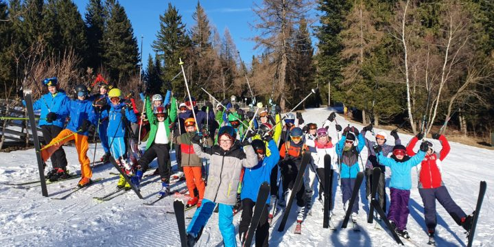 Ein traumhafter Tag im Schnee bei den Landesmeisterschaften Schi alpin 2020