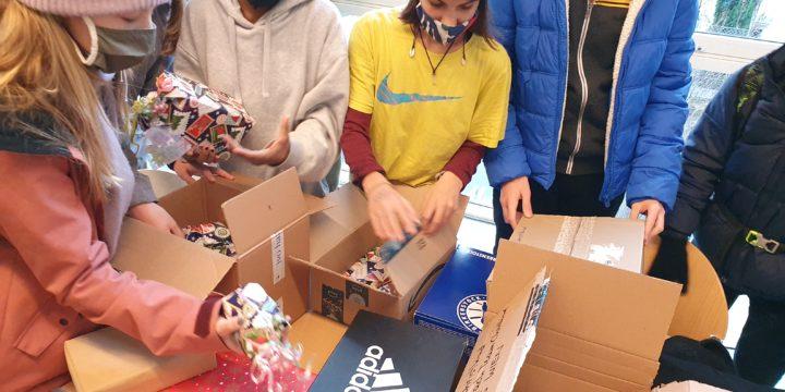 Weihnachten 2020 in der 3A – Engerl Bengerl, Workshop Armut und Pakete fürs Christkind